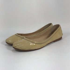 Frye Carson Patent Leather Ballet Flats Ivory 8.5